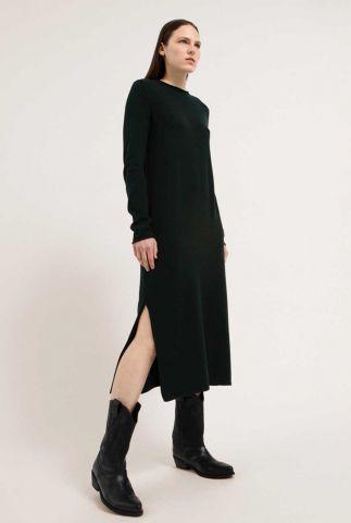 fijngebreide donker groene maxi jurk van een tencelmix alicaa 30002393