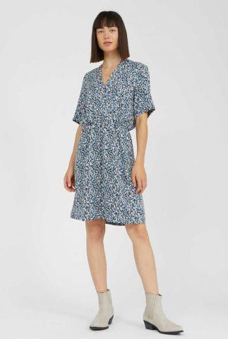 jurk met v-hals en bloemen dessin airaa primrose 30002507