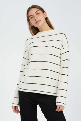off-white sweater met streep dessin medinaa fine stripes 30002574