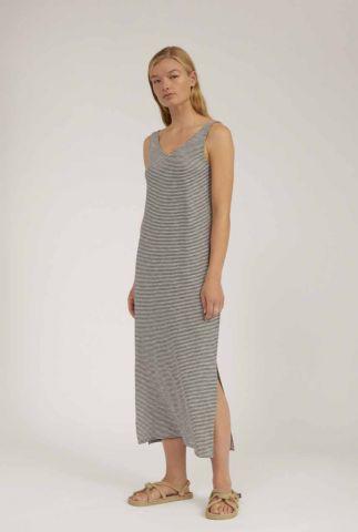 zwart gestreepte maxi jurk madalenaa 30002789