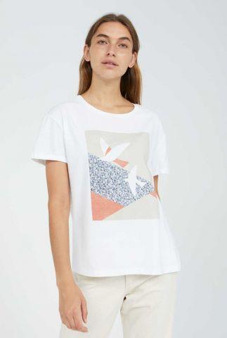wit t-shirt met gekleurde opdruk naalin primrose doves 30002873