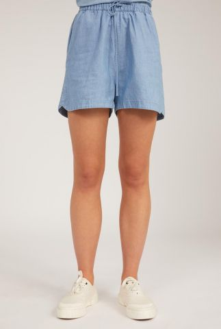 denim look short met tunnelkoord xuliaa 30002874