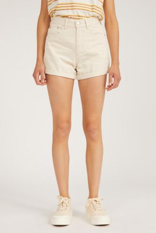 high waist undyed denim short silvaa 30002925