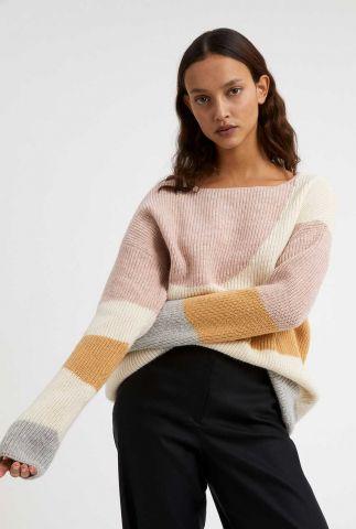 wollen trui met ingebreid patroon mayaa soft hills 30003095
