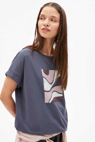 katoenen t-shirt met grafische opdruk idaa soft hills 30003263