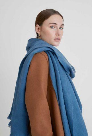 blauwe zachte sjaal van alpaca wolmix lagoon blue scarf