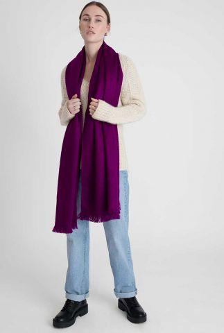 paarse sjaal van alpaca wolmix violet scarf