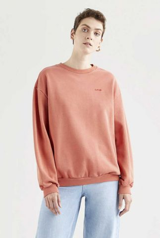 roest kleurige sweater melrose slouchy crew 32951-0005