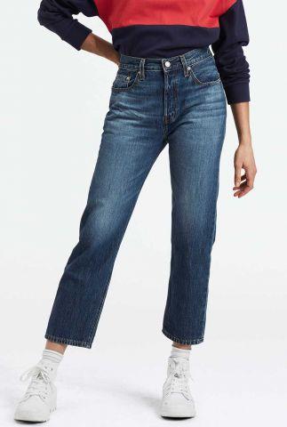 cropped 501 jeans met rechte pijpen 36200-0080