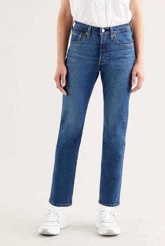 donkerblauwe 501 crop jeans met high waist 36200-0157