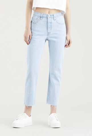licht blauwe 501 cropped jeans 36200-0180
