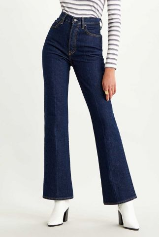 donker blauwe ribcage flared jeans  36934-0000