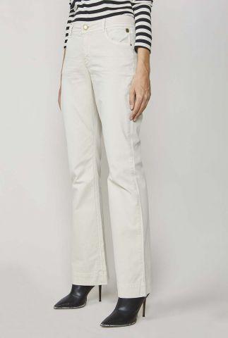 crème kleurige broek met flared pijpen 4s2010-11293