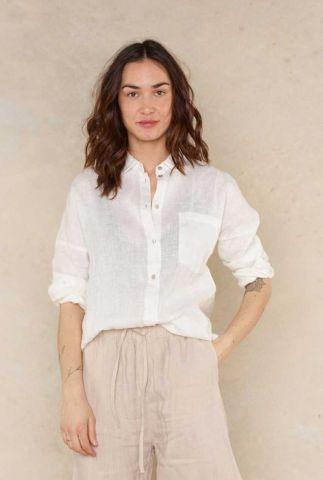 witte linnen blouse creo 5052303