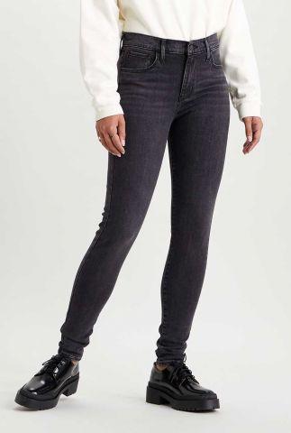 720 high waisted donker grijze super skinny jeans 52797-0185