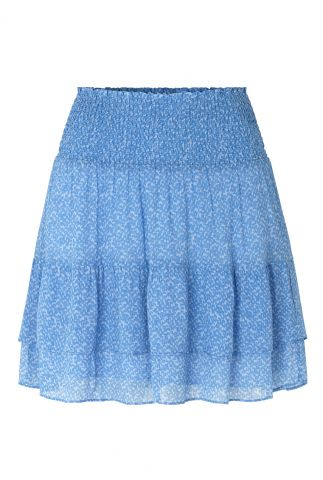 lichtblauwe mini rok met elastische taille mano skirt