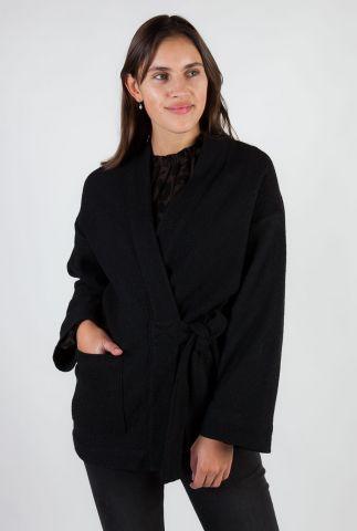 zwarte klassieke kimono van een zachte wolmix yuna 5552235