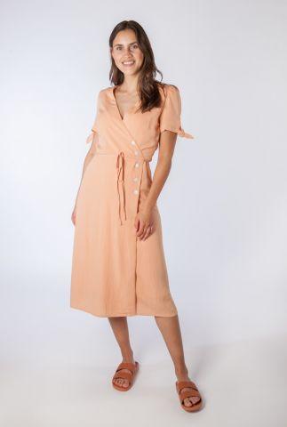 lichte jurk met overslag en knoopsluiting carla 58112