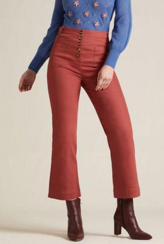 roestrode broek high waisted pocket pant sturdy 04810