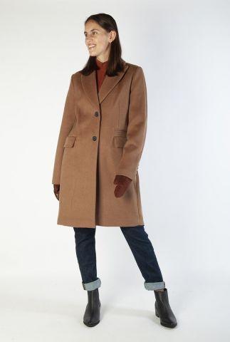 single-breasted mantel jas van een zachte wolmix 6618317