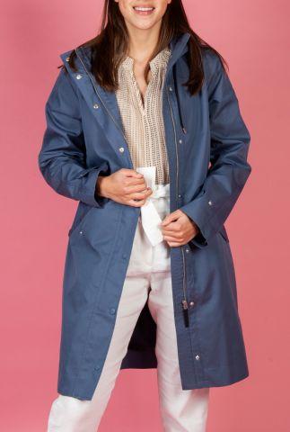 parka jas van een katoenmix met capuchon en klepzakken 6622950