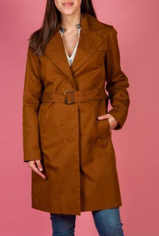 bruine trenchcoat met brede riem jas 6622952