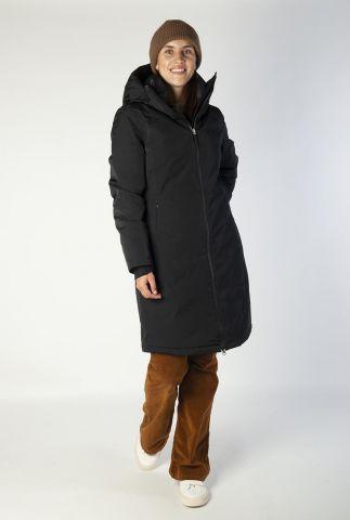 halflange regenbestendige jas met capuchon 6626348