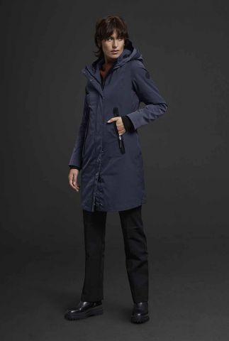 waterbestendige slim fit jas met capuchon 6626349