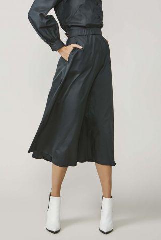 zwarte midi rok met steekzakken 6s1171-11228