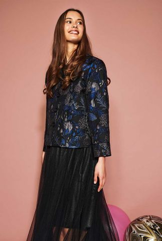 zwarte blazer met lurex jacquard dessin nukaylyn jacket 700090