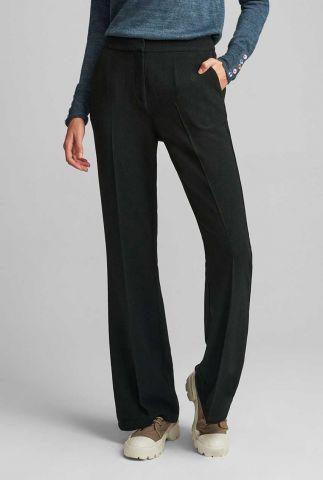 zwarte flared broek met high waist kendall pant 700093