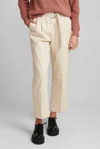 ecru kleurige denim pantalon 700170 nucairo pants
