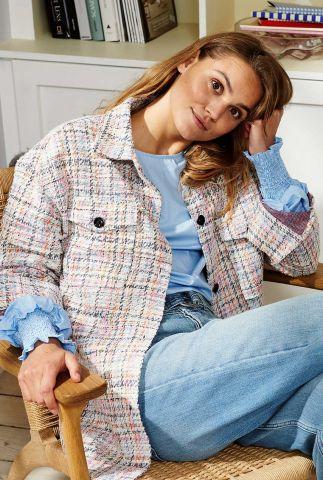 half lange geruiten jas 700180 nucela overshirt