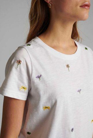 top met geborduurde bloemen nucarol t-shirt 700406