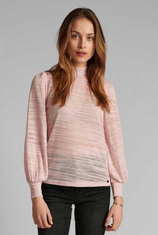 licht roze semi-transparante top 700436 nufanny