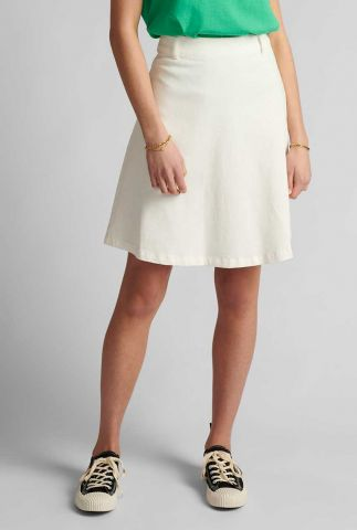 witte korte rok met a-lijn pasvorm nutekla skirt 700609