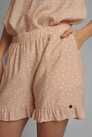 licht roze short met stippen print nubella short 700647