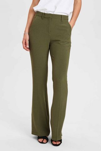 donker groene flared pantalon nukendall pant 700938
