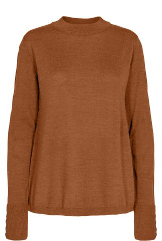 fijngebreide wolmix trui met hoge hals numeriano ls pullover 701047