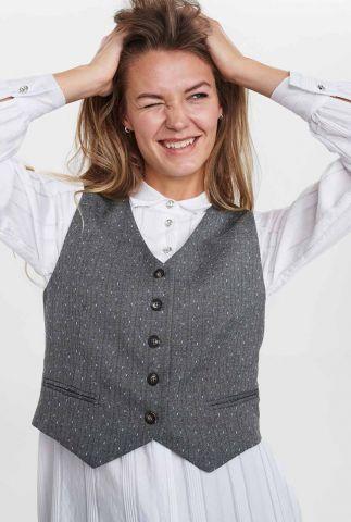 grijs gilet met ingeweven streep dessin nubjorg waistcoat 701122