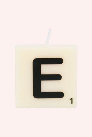 letter kaars E 7040015