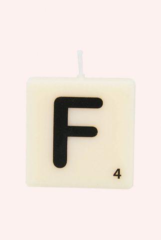 letter kaars F 7040016