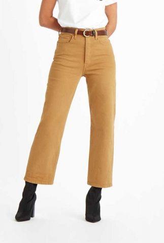 ribcage straight 7/8 mosterdgele jeans met high waist 72693-0032