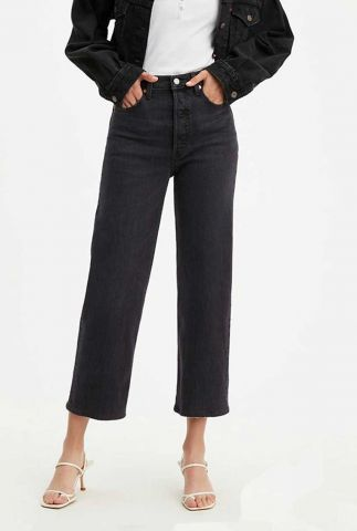zwarte 7/8 ribcage straight ankle jeans 72693-0037