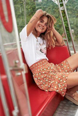 gelaagde mini rok met elastische tailleband 7320105 nuamabel