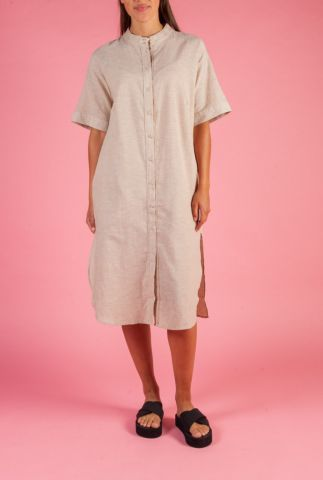 blouse jurk van linnen/katoen mix nuboheme dress 7320820