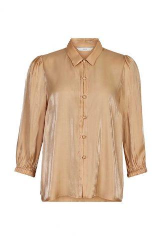zalm roze zijde look blouse 7420017 nubeloved shirt