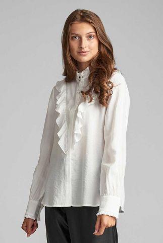 witte blouse met ruches 7520023 nubeach