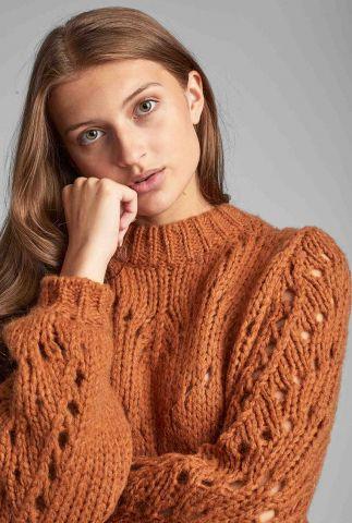 grof gebreide trui met ingebreid patroon 7520234 nubejouhi
