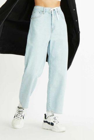 lichte denim balloon jeans met high waist 85314-0003